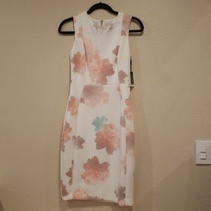 Calvin Klein Sleath Floral Dress New Size 4